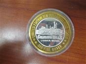 LIMITED EDITION COLORADO BELLE CASINO $10  SILVER STRIKE GAMING TOKEN